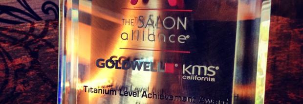 AURELIO SALON AWARDED GOLDWELL TITANIUM STATUS 2014!